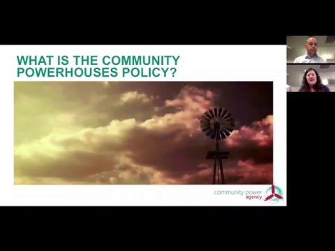 Smart Energy Communities Webinar Introduction