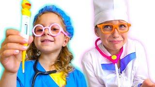 Ева Лиза и веселые игры в доктора видео для детей (Сборник )
