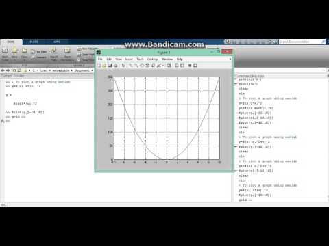 How to plot a graph easily using matlab {fplot} (quick tutorial)