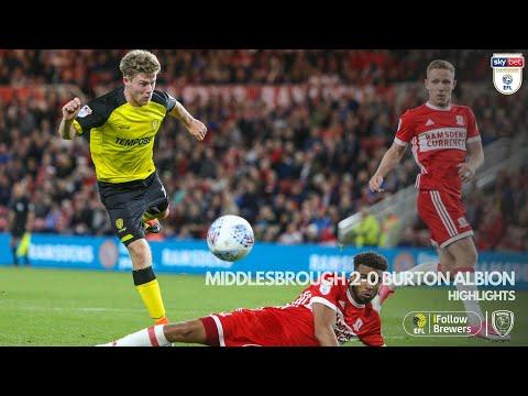 Middlesbrough v Burton
