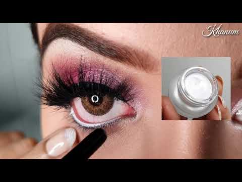 pink glittery eye makeup  very easy tutorial for