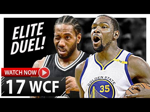 Kawhi Leonard vs Kevin Durant WCF Game 1 Duel Highlights (2017 Playoffs) Spurs vs Warriors - EPIC!
