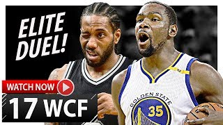 Kawhi Leonard vs Kevin Durant WCF Game 1 Duel Highlights (2017 Playoffs) Spurs vs Warriors - EPIC!