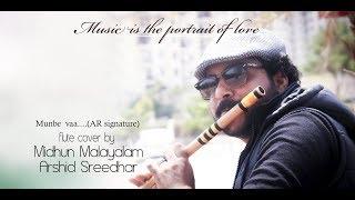 Munbe Vaa en Anbe vaa Flute Cover | Midhun Malayalam | Sillunu oru kadhal | Hd | A R Rahman Hit |