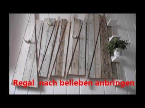 Garderobe aus massiv holz reste erstellt youtube for Garderobe stander