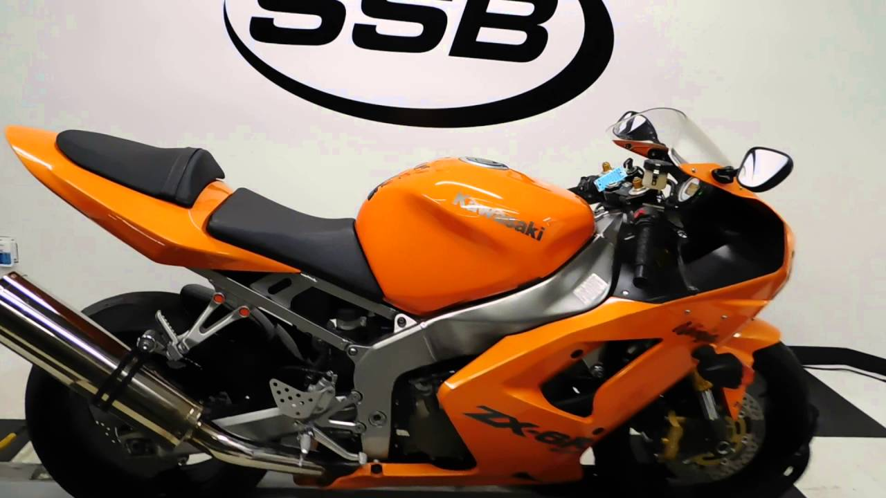 2004 Kawasaki ZX6R 636 Ninja Orange  used motorcycle for