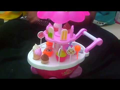 Icecream cart toy with lights and music/ unboxing and review