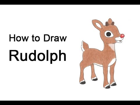 how to draw rudolph the red nosed reindeer youtube how to draw rudolph the red nosed reindeer