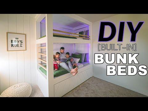 DIY Twin Built-in Bunk Bed For Kids