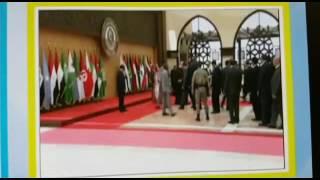 الرئيس اللبناني يسقط أرضا قبيل التقاط الصورة الجماعية للقادة العرب