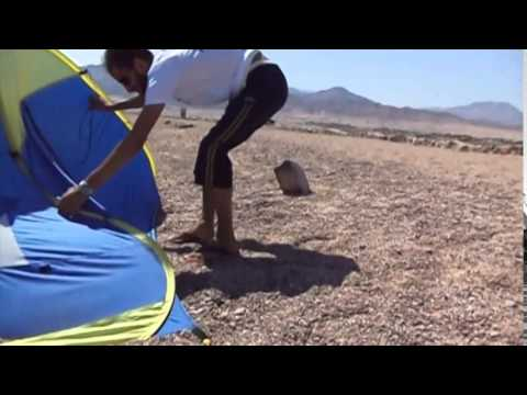 Setting Up Genji Sports Pop Up Tent in very windy weather instructions - YouTube & Setting Up Genji Sports Pop Up Tent in very windy weather ...