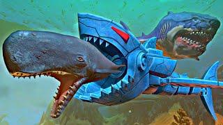 Tubarão Biônico Caçando Baleias para se LIVRAR do Prognathodon! Feed and Grow Fish (PT/BR)
