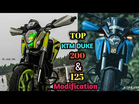 Top modified KTM DUKE 200 & DUKE 125.