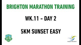 Brighton Marathon Training - WEEK 11 DAY 2 - 5KM SUNSET EASY