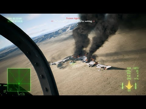 Ace Combat 7: Skies Unknown (Su-57 + Pulse Laser) Mission 12 l Stonehenge Defensive |_・)q