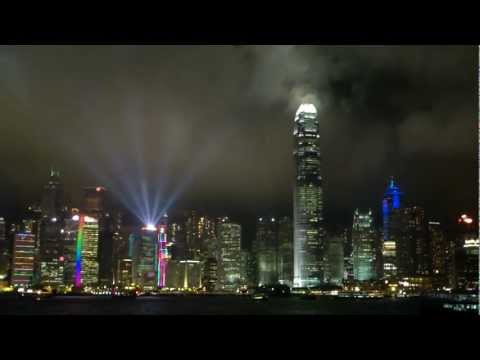 Hong Kong Light Show seen from Kowloon 2