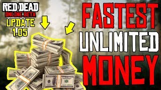 *NEW* Red Dead Online UNLIMITED MONEY TRICK AFTER UPDATE 1.05 | Make Money Fast & Easy !