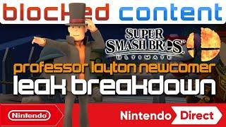 RUMOR: Professor LAYTON The NEXT Smash REVEAL?! We BREAK DOWN A New Smash Ultimate Leak - LEAK SPEAK