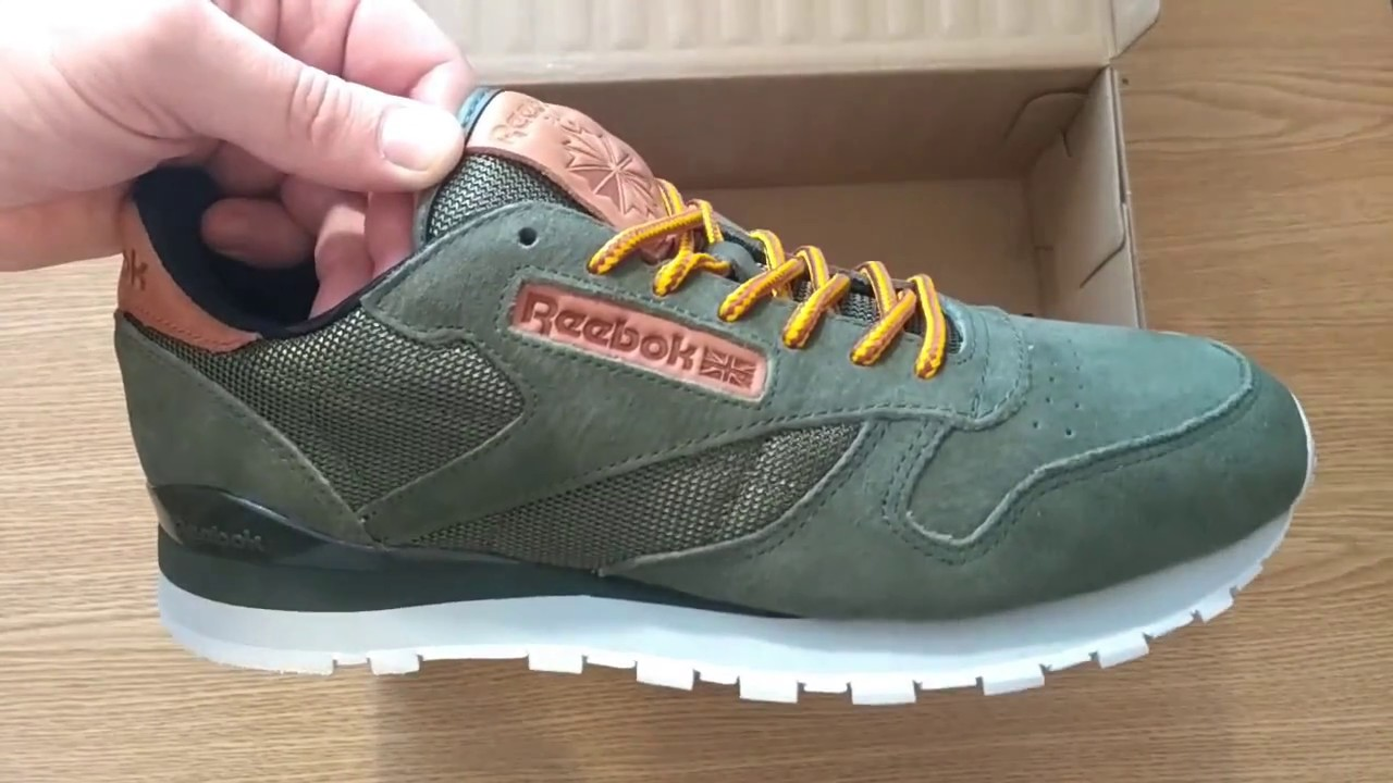 46c3d358de02 Мужские Кроссовки Reebok Classic Leather, BD2034 - Оригинал - YouTube