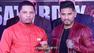 GERVONTA DAVIS VS ABNER MARES - THE FULL KICKOFF PRESS CONFERENCE & FACE OFF VIDEO