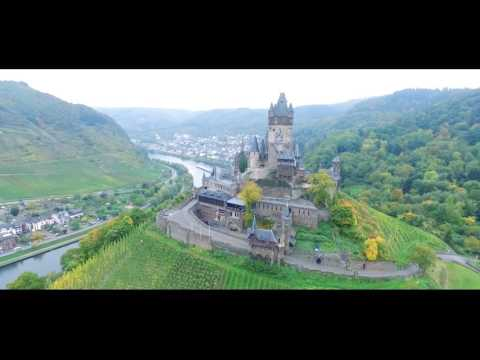 Drone flight over Cochem