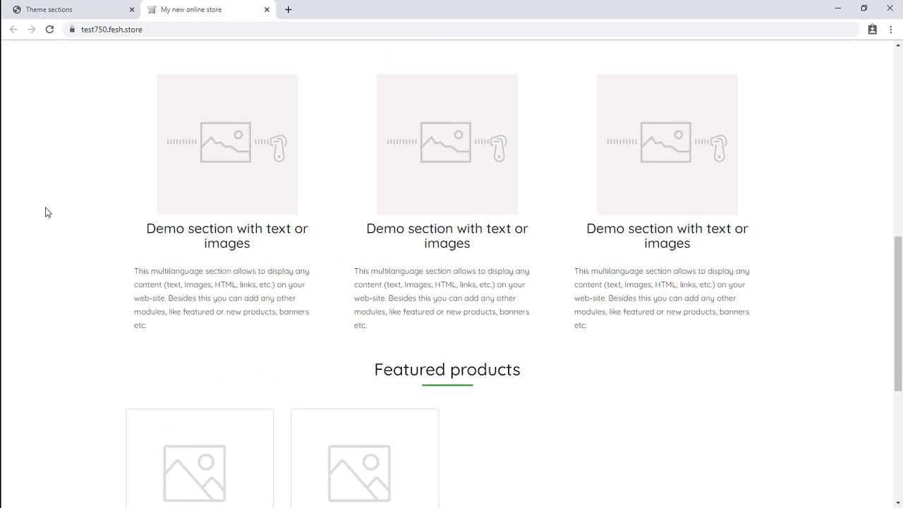 How to add and edit page content sections