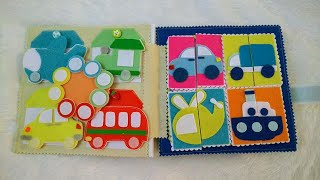 Quiet Book /busy Book No Sew, Activities For 1 To 3 Years Old