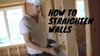 Straightening Walls, Avoiding Drywall Pops!