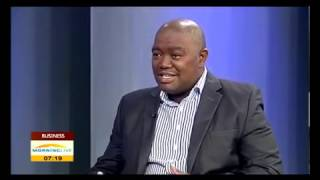 Siphiwe Moyo talking about Bulls & Bears: life lessons from the financial markets on Morning Live