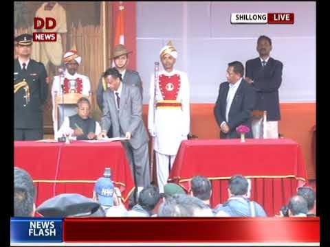 NPP's Conrad Sangma takes oath as Meghalaya CM