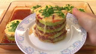 Запеченные кабачки с фаршем и сыром Как приготовить кабачки Рецепт кабачков с фаршем в духовке