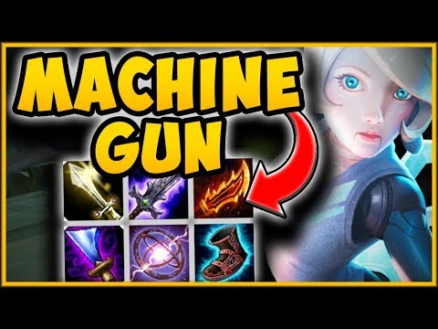 MAX ATTACK MACHINE GUN ORIANNA IS 100% BUSTED ON-HIT ORIANNA TOP CHALLENGE - League of Legends
