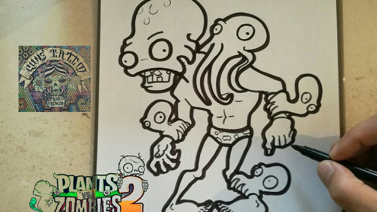 Como Dibujar Al Zombie Pulpo Plants Vs Zombies 2