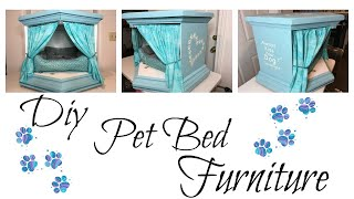 DIY PET BED FROM OLD FURNITURE