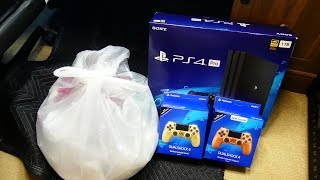 PLAYSTATION 4 and CONTROLLER BOXES!!! Gamestop Dumpster Dive Night #740