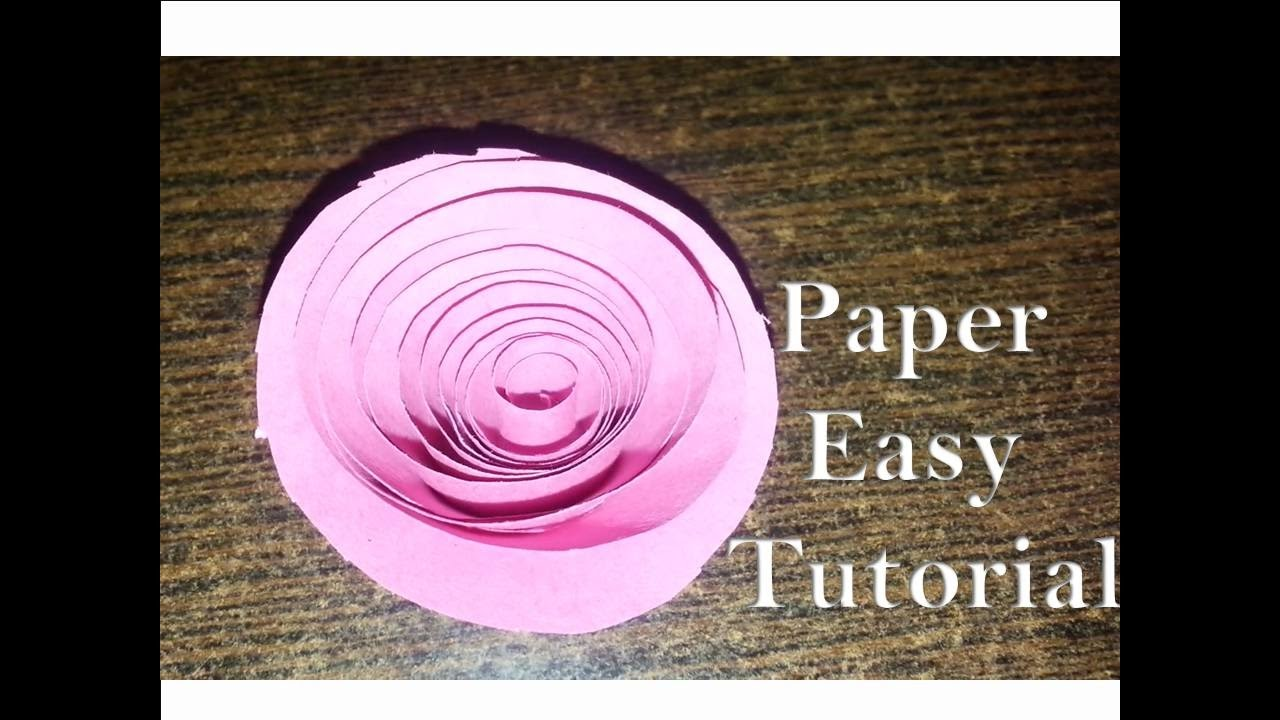 How To Make Paper Flowers Origami Rolled Paper Roses Quick Easy