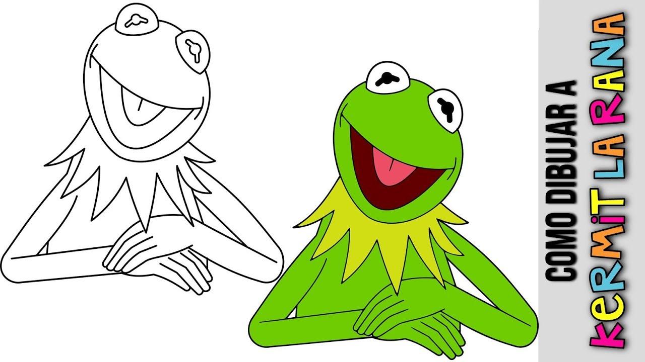 Como Dibujar Kermit La Rana Rene De Los Memes Paso A Paso Rana De Los Memes Kermit The Frog Youtube
