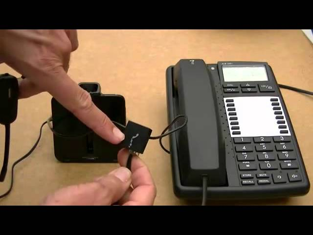 Set Up Plantronics Cs540 Wireless Telephone Headset Youtube