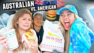 My Australian Friend Tries American FAST FOOD For The First Time! *she felt sick*
