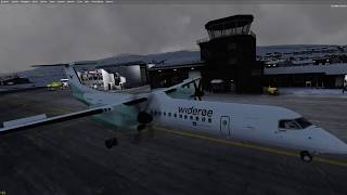 Ftx Norway Part 31: All The Way To The Top. Q400 Into Tiny Tiny Enhv Honningsvåg In Marginal Weather