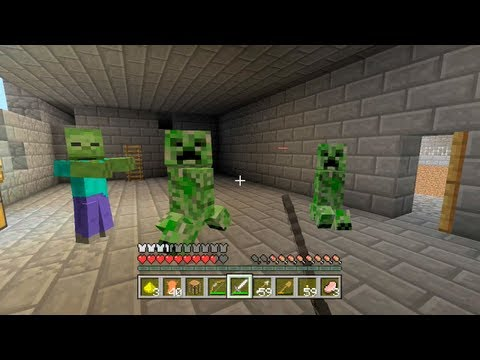 Minecraft Xbox - Race For The Wool - Part 1