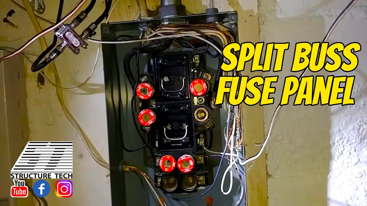 Split Buss Fuse Panel Youtube Residence In Older Homes Fuses May Be Used Instead Of Circuit Breakers Structure Tech Home Inspections