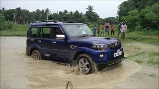Scorpio Vs Bolero Vs Thar in deep slush