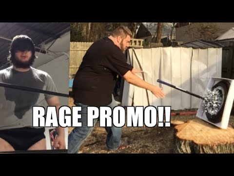SMASHING MIRROR WITH SLEDGEHAMMER WRESTLING MATCH RAGE PROMO