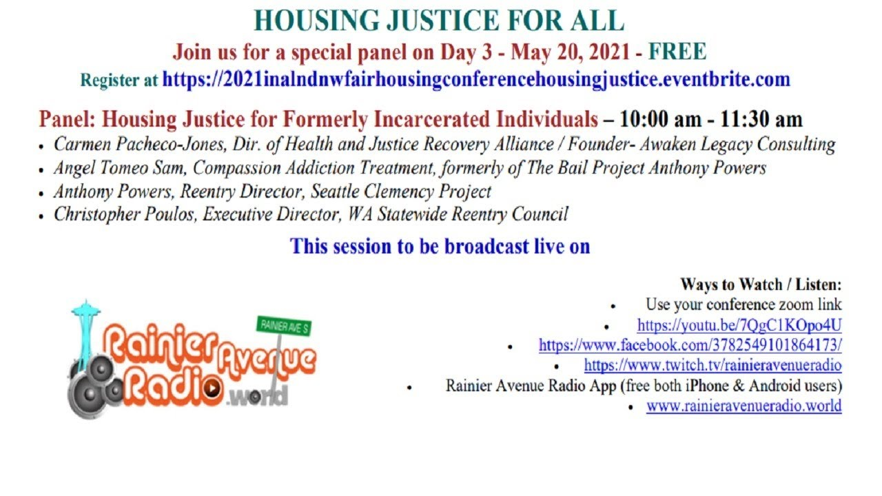 5-20-21 Live: Statewide panel HOUSING JUSTICE FOR ALL