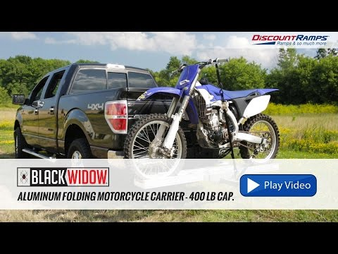 Aluminum Folding Motorcycle Carrier - 400 lb Capacity