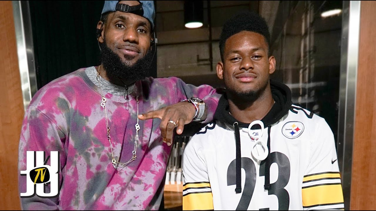 the best attitude 9e7a6 d5df4 JuJu Smith-Schuster Recruits LeBron James to the Steelers