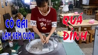 Ngạc Nhiên Cô Gái Làm Kem Cuộn Thái Lan Quá Đỉnh - Mr Hành Vlog