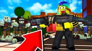VERWENDUNG DER STRONGEST GUN UND DESTROYING ZOMBIES (Roblox Zombie Killing Simulator)