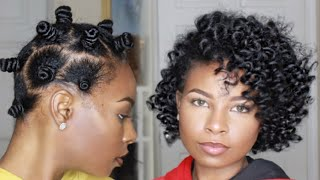 The Ultimate Bantu Knot-Out (Dry Hair)